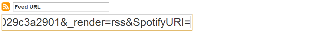 "Paste the Spotify URI after the ""="" sign"